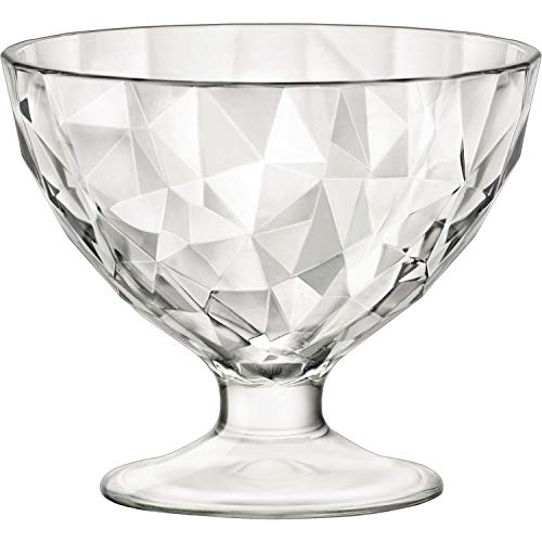 Rocco Bormioli 1333436 Diamond - 6X Coupelles en Verre Transparentes 36 cl