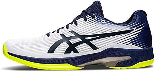 ASICS Men's Solution Speed FF Tennis Shoes, 15M, White/Peacoat