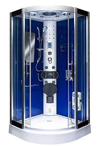 AcquaVapore DTP8046-0202 Dusche Dampfdusche Duschtempel Duschkabine 80x80 JA mit 2K Scheiben Versiegelung