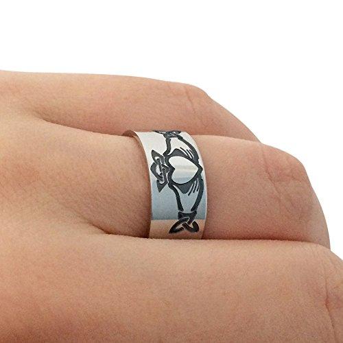 Sterling Silver Claddagh Ring, Irish Claddagh Ring, Irish Promise Ring