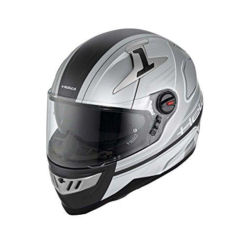 Held Takeo Dekor Motorradhelm, Farbe silber-schwarz, Größe M