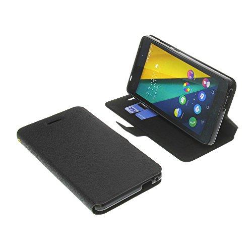 Tasche für Wiko Pulp Fab 4G Book Style schwarz Schutz Hülle Buch