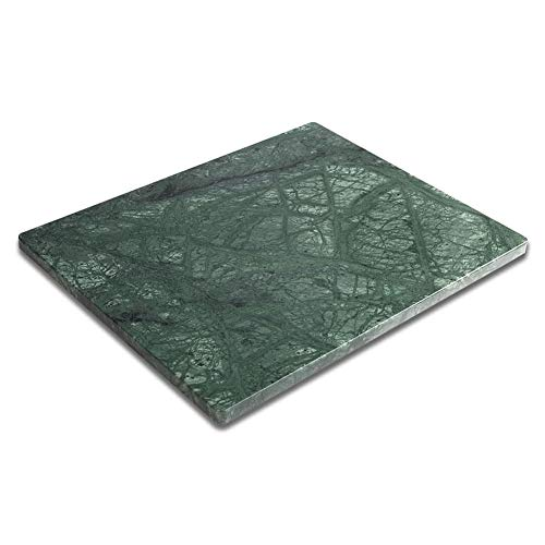 Besdor Marble Pastry Board 16 x 20 Inch Medium Green Marble Cutting Board Marble Slab