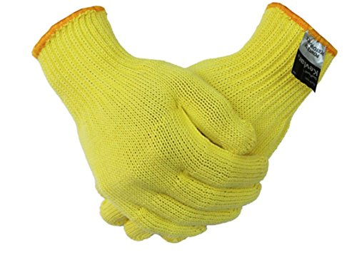 Cut Resistant Gloves, 100% Kevlar, Full Protection, Knitted High Performance gloves, Elastic, One Size