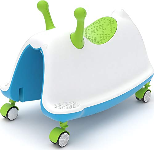 Chillafish Trackie: Baby/Toddler Walker, Rocker, Ride-on, Play Train All-in-one, Ages 1 to 5, Blue and Lime Green