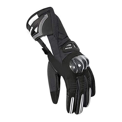 Gants de Moto Hiver Gants Doigts Chauds & Imperméables avec Écran Tactile pour Sports de Plein Air Professionnels,Black,M