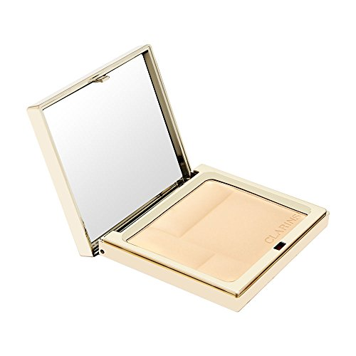 Clarins Ever Matte Shine Control Mineral Powder Compact, No. 01 Transparent Light, 0.35 Ounce