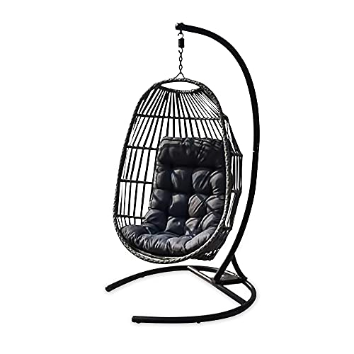 Hanging Egg Chair - Premium Collapsible (Foldable) Rattan Egg Swing Chair - Garden, Patio, Outdoor and Indoor Rattan...