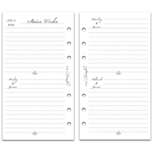 SinnWunder® Premium-Kalendereinlage 2 Tage / 1 Seite bzw. 4 Seiten/Woche VintageSinn (2022 - Personal)