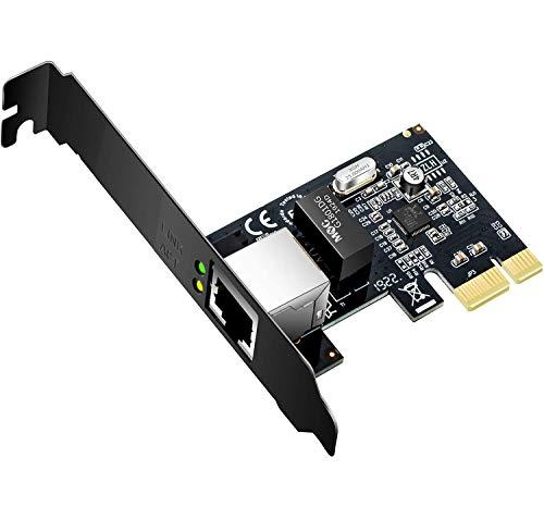 Speedbyte Gigabit Ethernet PCI Express Network Adapter 10/100/1000Mbps Network Interface Card (NIC) PCI-e Network Controller Card RJ45 LAN Adapter Converter for Desktop PC, Black