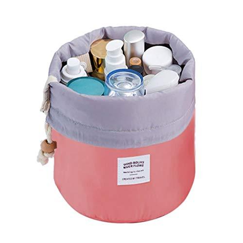 JSBelle Bolsas de cosméticos organizador, Bolsas de cosméticos en forma de barril de viaje, Bolsas de…