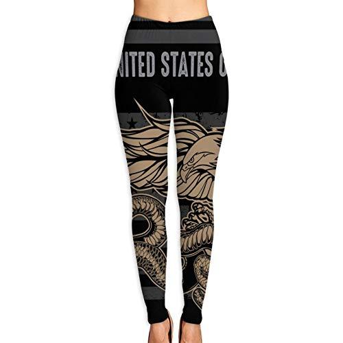 Vizor Women's Printed Leggings Eagle Snake Flag USA America Flag Ultra Soft Ankle Length Elastic Tights