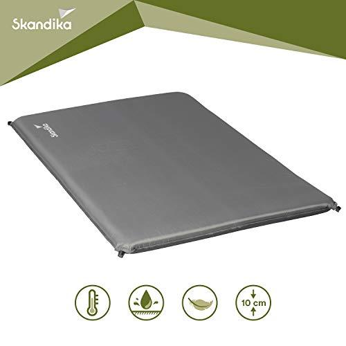 skandika Easy Single/Double 3D Premium selbstaufblasende Isomatte Luftmatratze selbstfüllend, ideal für Zelten, Outdoor, Camping, Gästebett (Easy Double)