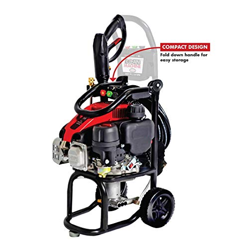 SIMPSON Cleaning CM60912 Clean Machine Gas Pressure Washer Powered by Simpson, 2400 PSI at 2.0 GPM, Black