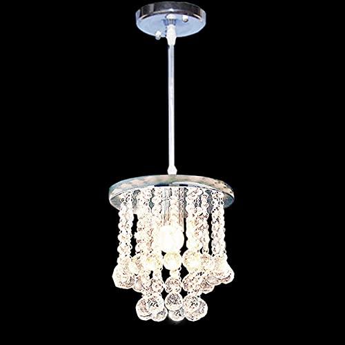 Lámparas De Araña Estilo europeo E27 sola cabeza transparente bola de cristal de la lámpara de techo de metal de ajuste luces pendientes de cristal lámpara de mesa Sala de libro Barra de iluminación d