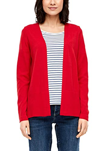 s.Oliver Damen Strickjacke in Unicolor red 36