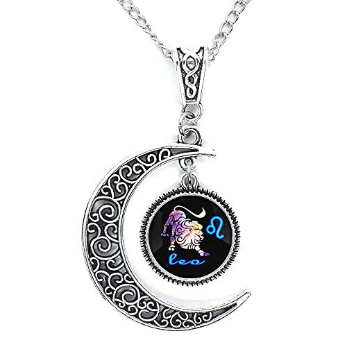 Leo Constellation Collar Leo Constellation Charm colgante, collar del zodiaco, joyería del zodiaco, joyería del zodiaco, joyería del zodiaco Leo JV35