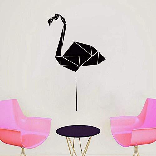 34X57 Cm Geométrico Flamingo Wall Decal Polígono Animal Vinilo Adhesivo Origami Wall Art Decoración Del Hogar Minimalista Murales