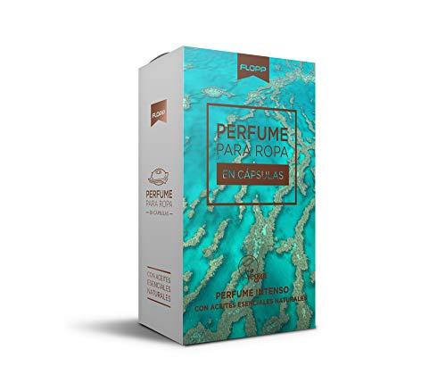 Flopp Perfume para la Ropa con Aceites Esenciales Naturales en Cápsulas (16 cápsulas). Flopp Eco: Limpia sin Ensuciar el Planeta.