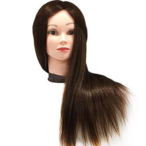 La cabeza para peinar el cabello, persona verdadera cabeza de formación profesional de 40% puede rizar el pelo modelo de la práctica forma de la muñeca y la tabla de clip