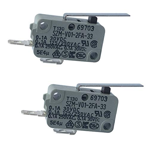LONYE 6600JB3001C Refrigerator Dispenser Switch Replacement for LG Refrigerator SZM-V01-2FA-33 PS3529276(Normally Open)(Pack of 2)