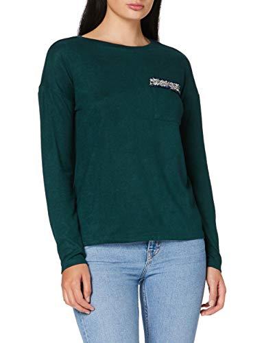 Springfield 2.Pv20.Bolsillo Chanel-C/23 Camiseta, Verde (Green 23), XS (Tamaño del Fabricante: XS) para Mujer