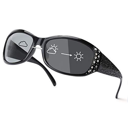 IGnaef Gafas de sol fotocromáticas para mujer con lentes HD polarizadas, 100% protección UV400 antirreflejos, gafas de sol vintage para exteriores