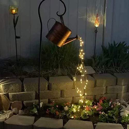 Vrtter Regadera de luz estrellada para jardín, terraza, patio, familia, fiesta, boda, decoración de vacaciones