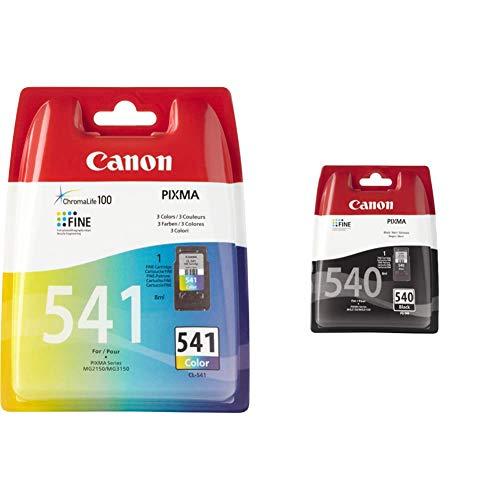 Canon CL-541 Cartouche Couleur (Pack Plastique) & PG-540 Cartouche Noire (Pack Plastique sécurisé)