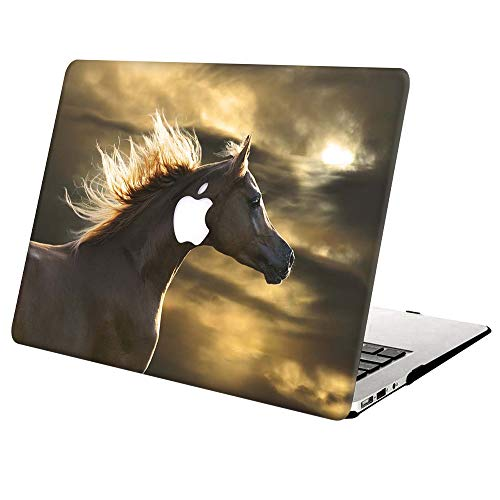 MacBook Pro 15 inch Case 2019 2018 2017 2016 Release A1990 A1707, AJYX Plastic Protective Hard Shell Case Compatible with MacBook Pro 15 with Touch Bar Soft Touch - Horse 1