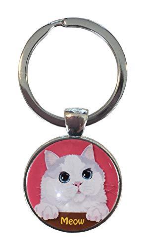 ミャオ 猫 キーホルダー ねこ キーリング 猫