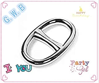 G。W。B Fashion Oval Scarf Metal Solid Piece Ring Wrap Holder Jewelry Making Charms Clothing