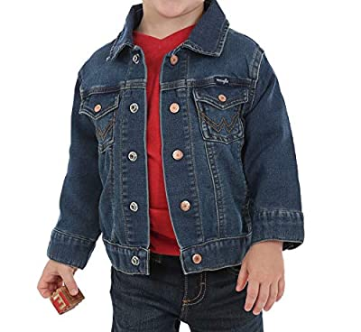 Wrangler Baby Boys Denim Jacket, Dark Blue, 6-9 MO