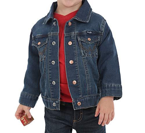 Wrangler Baby Boys Denim Jacket, Dark Blue, 3T