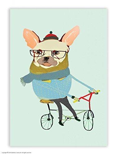 Postkarte Französische Bulldogge