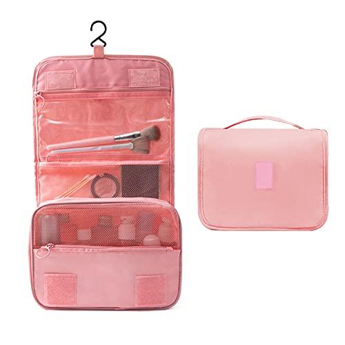 HOUSEHOLD Bolsas Organizadoras de Maquillaje de Viaje para Mujeres con Gancho para Colgar, Bolsa de Cosméticos de Maquillaje Resistente Al Agua, Baño, Ducha y Kit Organizador de Afeitado