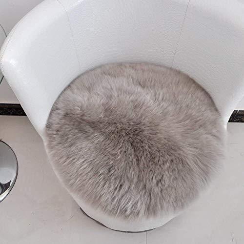 BESTPRVA Ronda Silla de la Felpa de ratón, Peluda Alfombra sofá Cojines de Respaldo [Oficina] Soportes lumbares Core Mullido (Color : L, Size : Diameter50cm(20inch))