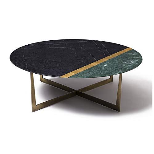 XINTONGSPP La Luce Lusso Marmo Tavolino, Nordic Semplice Tavolino Rotondo in The Living Room, Design Minimalista Tempo Libero Terrazza Tavolino, 80 * 80 * 35cm