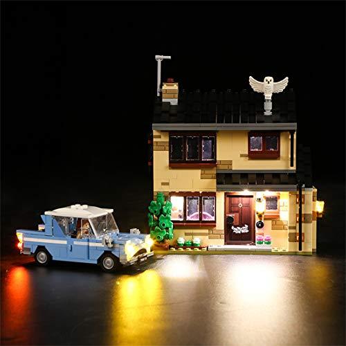 OATop LED Beleuchtungsset für Lego Harry Potter Ligusterweg 4, Bunt Licht Set Kompatibel mit Lego 75968 - Ohne Lego Set
