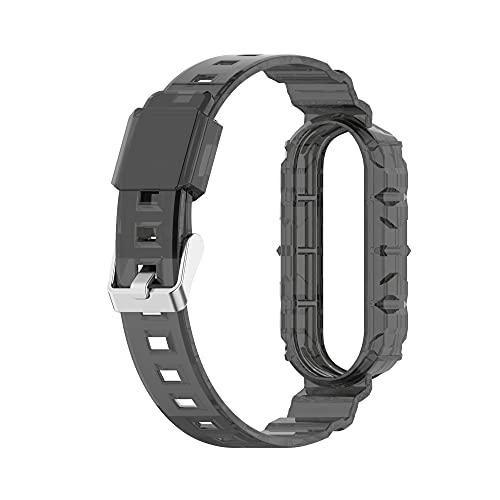 Reloj correas para MI BAND 6/5/4/3 WatchBand Sport Wristband Smart Watch Pulsera (Band Color : Black, Band Width : For Mi Band 3)