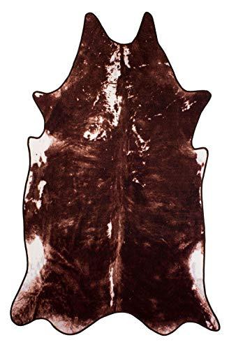 andiamo Teppich Amarillo, Kunstfell, Fellteppich, Rinderfell, Farbe:Braun, Größe:100 x 165 cm