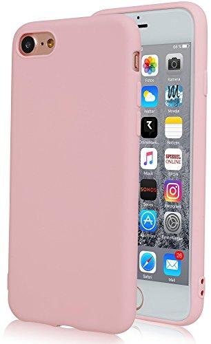 Movoja Rosé/Rosa matt Hülle kompatibel mit iPhone 6 | | Bekannte Passform | Schutzhülle Matt Case Cover - matt Rosa