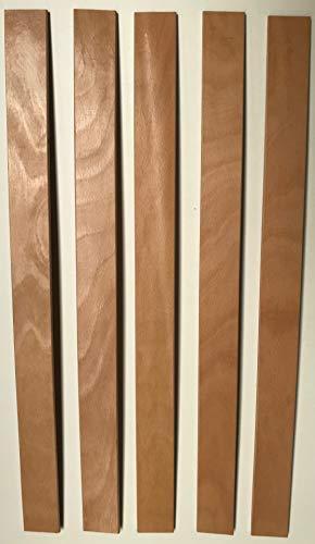 SCM Créations Lot de 5 Lattes 560/53/8 56 cm 7 Plis pour clic clac, bz, sommier, Cadre a Lattes