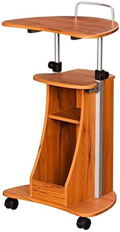 Pemberly Row Woodgrain Honey 2021 autumn and winter new Mobile Wheels on Max 74% OFF Laptop Desk Stand