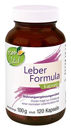Kopp Vital Leber-Formula Kapseln | 100 g | 120 Kapseln | Premiumqualität | Nahrungsergänzungsmittel | Vegan | mit Mariendistel, Artischocke, Löwenzahn und Cholin