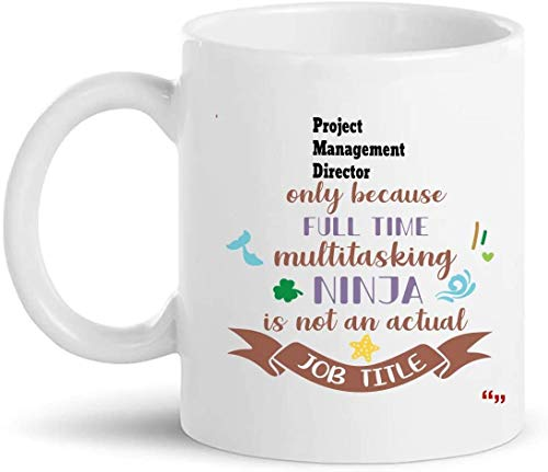 Not Applicable Bester Projektmanagement-Direktor Tasse 11Oz Kaffeetasse - Chef Leader Manager Projektmanagement-Direktor Geschenk Personalisierte Geschenke für Männer Frauen T-Shirt Tassen Tassen