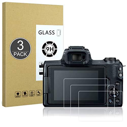 Proteggi Schermo Compatibile con Canon EOS M100/M50/200D,[Resistente ai Graffi,Alta Definizione,Senza Bolle],E-Hamii[3 Pezzi]Pellicola Protettiva in Vetro Temperato per Canon EOS M100/M50/200D
