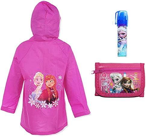 Frozen Anna & Elsa Girl's Waterproof Hooded Raincoat