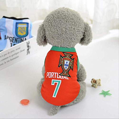 World Cup Dog Jersey, Football T-Shirt Dogs Kostüm, National Soccer Dog Pajamas FIFA Jersey Cats Onesie Für Hunde Und Katzen S c