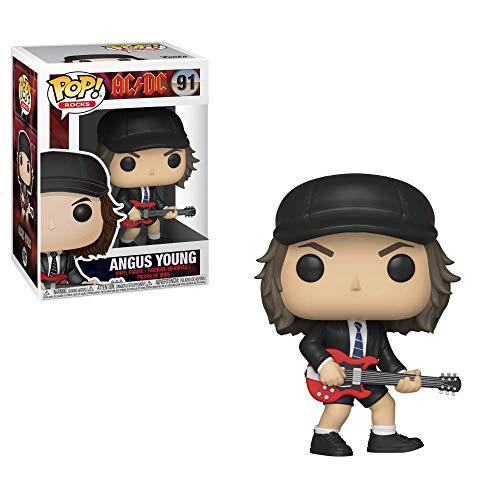 Funko- Pop Vinyl: Rocks: AC/DC: Angus Young w/Chase (Styles May Vary) Figura coleccionable, Multicolor, talla única (36318) , color/modelo surtido
